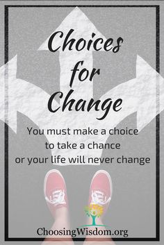 Choices for change is a series to help you through out the year make choices that will make changes in your life.  Change isn't about just a new years resolution its about continual and consistent effort.