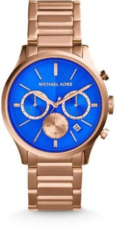 Michael Kors Bailey Rose Gold Tone Chronograph Watch #MK5911 - http://www.specialdaysgift.com/michael-kors-bailey-rose-gold-tone-chronograph-watch-mk5911/