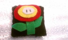 Fire Flower Miniature Felt Pillow by Studio1985 on Etsy, $5.00