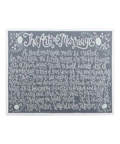 Take a look at this 24'' x 30'' 'The Art of Marriage' Wrapped Canvas today!