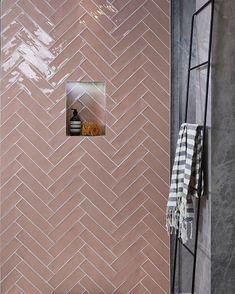 Ca' Pietra Carter Pink Blush Tiles. Laid in a herringbone pattern. Ca' Pietra Carter Pink Blush Tiles. Laid in a herringbone pattern. Beautiful Bathrooms, Modern Bathroom, Small Bathroom, Minimalist Bathroom, Bathroom Tile Designs, Bathroom Interior Design, Bathroom Wall Tiles, Toilet Tiles, Bath Tiles