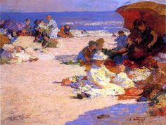 Picknickers on the Beach-Edward Potthast by BoFransson, via Flickr