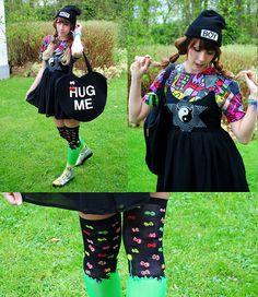 Get this look: http://lb.nu/look/4858705  More looks by Lunie Chan: http://lb.nu/user/2642677-Lunie-C  Items in this look:  Rose Fanfan Black Hat, Vintage Colored Shirt, Glad News Black Dress, Acdc Hara Juku Grass Socks, Sammy Dress Silver Shoes, We Go Hug Me Bag