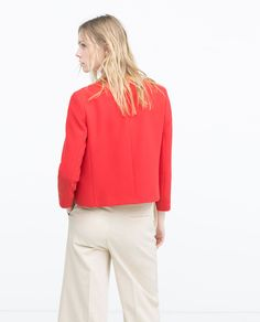 ZARA - WOMAN - SHORT CREPE JACKET