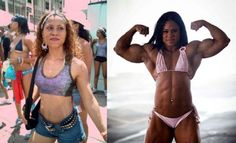 Full profile of muscular female bodybuilder Kashma Maharaj – 16 inch biceps, 26 inch quads and 170lbs of hardcore female muscle