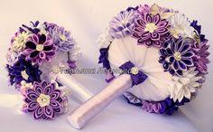 Fabric Wedding Bouquet brooch bouquet bouquet-doubler by LIKKO