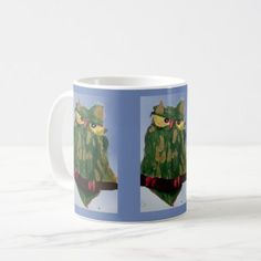 Green Owl Mug - home gifts ideas decor special unique custom individual customized individualized
