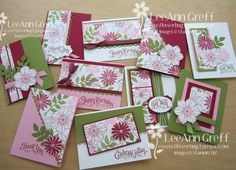 Secret Garden one sheet wonder cards ~~~ would make a great card set for giving as gifts Karten Diy, One Sheet Wonder, Stamping Up Cards, Card Making Techniques, Card Tutorials, Card Sketches, Paper Cards, Flower Cards, Creative Cards