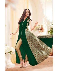 Long Stylish Partywear Salwar Suit Fabric : Georgette Inner Fabric : Shantoon Dupatta Fabric : Chiffon Size : Semi-Stitched (customizable Upto size-42)