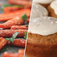 I love carrots! Here are 5 amazing a simple snacks for fellow carrot lovers Carrot Cake Oatmeal, Carrot Cake Muffins, Healthy Carrot Cakes, Carrot Recipes, Simple Snacks, Tasty, Yummy Food, Savoury Cake, Mini Cakes