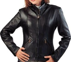 http://miscoleather.com/product/belt-collar-leather-jacket/ Belt Collar Leather Jacket