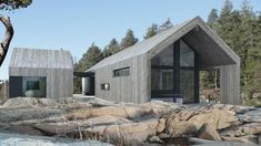"""Holiday Home """"Snøhetta"""" Modern Barn House, Modern House Design, Shed Homes, Cabin Homes, Log Homes, Barn Renovation, Modern Farmhouse Exterior, Architect House, House In The Woods"""