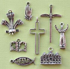 Religious Easter Charm Collection Antique by BohemianFindings, $4.25
