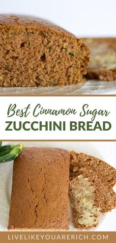 The Best Zucchini Cinnamon Sugar Bread recipe - this is loved by almost everyone who tries it—especially my dad. The cinnamon flavor is very light and balances perfectly the zucchini flavor and sweetness from the sugar. This is super delicious, super moist and easy to make. Cinnamon Sugar Bread, Slow Cooker Recipes, Cooking Recipes, Easy Bread Recipes, Pumpkin Bread, Butter Recipe, Zucchini, Breakfast Recipes, Yummy Food