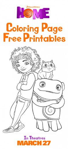 Color your favorite characters from Home. Sponsored by DreamWorks. ==