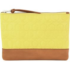 MCQ ALEXANDER MCQUEEN Embossed leather pouch (Citrus