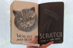 Resultado de imagen para tumblr drawings alice in wonderland cat