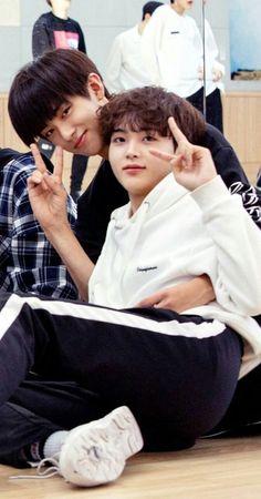 kmg x shj; Mingyu, Cute Sentences, My Moon And Stars, Kim Min Gyu, Baby Songs, Bts Memes Hilarious, Nct Life, Thing 1, Korean Boy Bands