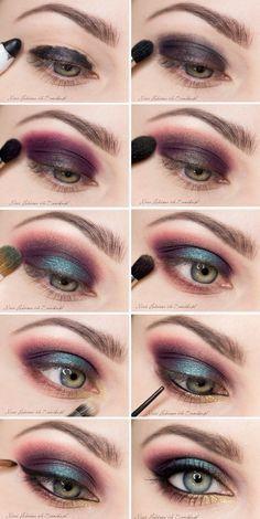 Maquillaje paso a paso de ojos