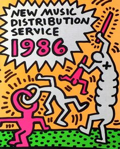 For Sale on - Rare original Keith Haring cover art, Offset Print by Keith Haring. Offered by Lot Keith Haring Prints, Keith Haring Art, K Haring, Barry Mcgee, American Artists, New Music, Illustrations Posters, Cover Art, Art Inspo