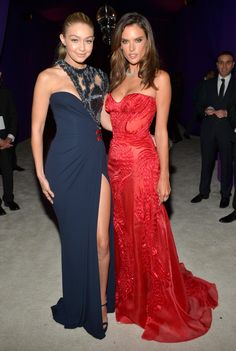 Gigi Hadid and Alessandra Ambrosio - 23rd Annual Elton John AIDS Foundation Academy Awards Viewing Party, Los Angeles. February 22, 2015.