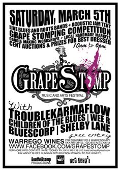 GrapeStomp Festival. I've wanted to do this forever.