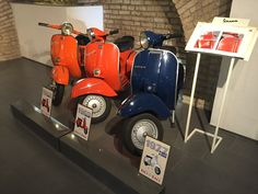 PX first series (right) @Vespa museum Rome