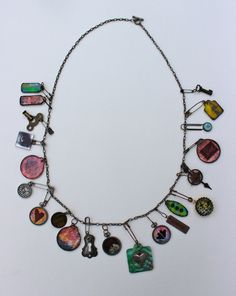 Marjie Kemper Charm Necklace - Art Journal Pages Meet Jewelry