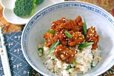 General Tso's Chicken with Ginger Rice & Broccoli