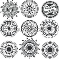 Don't like the yin-yang. But love the style. Black mandala style Variation for my sleeves Tattoo Pattern
