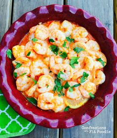 21 Day Fix Baked Buffalo Shrimp with Goat Cheese Sauce - Perfect Game Day App!