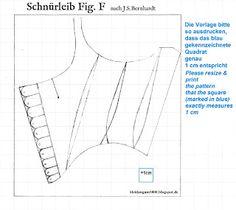 Kleidung um 1800: 'Short Stays' Studies - Schnürleib Studien