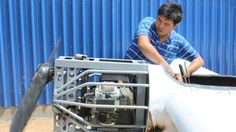 Paen Long, a car mechanic from rural Cambodia, built a plane by watching YouTube videos.