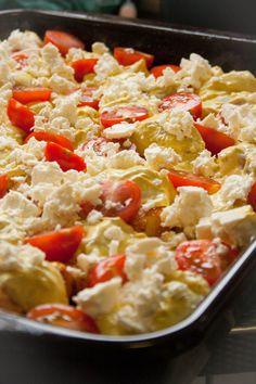 Recept Bombay aardappelen met feta uit de oven