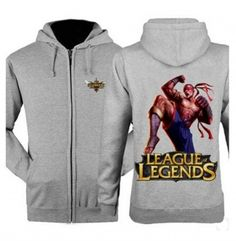 League of Legends hooded sweatshirts for men 3XL Lee Sin zip hoodies