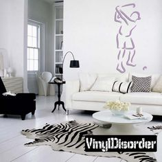 Golfer Wall Decal - Vinyl Sticker - Car Sticker - Die Cut Sticker - CDSCOLOR035