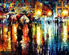 Leonid Afremov is a Russian–Israeli modern impressionistic artist who works mainly with a palette knife and oils