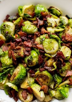 Selecting The Suitable Cheeses To Go Together With Your Oregon Wine These Bacon Brussels Sprouts Are An Incredibly Easy Fall Or Winter Side Dish Recipe With Only Two Ingredients Simple, Quick, And Delicious. Brussels Sprouts Recipe With Bacon, Shaved Brussel Sprouts, Keto, Paleo, Bacon Recipes, Cooking Recipes, Healthy Recipes, Broccoli Recipes, Delicious Recipes