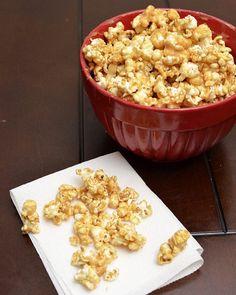 Instead of plain caramel popcorn, try peanut butter caramel popcorn!