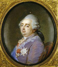 Louis XVI, Roi de France et de Navarre (1754-1793); miniature.