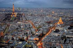 Arguably the best view of Paris 32. VIEW PARIS FROM THE MONTPARNASSE TOWER  in my opinion. Get the bird's eye view of Paris that actually includes the Eiffel Tower. It looks absolutely magical when the city lights up at night.