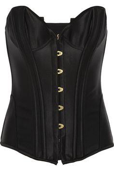 Penelope boned satin corset