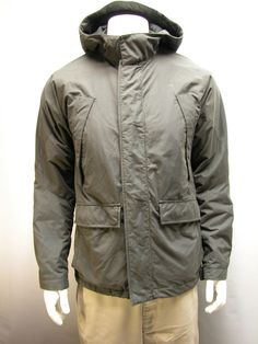 Men's Gap Hooded Jacket Size M Fully Lined Waterproof Winter Coat Dark Gray #GAP #Parka