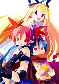 Disgaea: Hour of Darkness: Etna, Flonne & Laharl