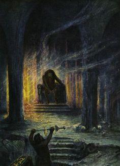 Hermann Hendrich, Wagner's Ring des Nibelungen, Niebelheim, in Niebelungenhalle