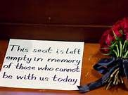 Seat of honor at weddings for passed loved ones - Bing Images