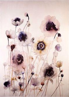 // Lourdes Sanchez, anemones #3 2014, watercolor