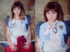 CAMISA MOÑO MUSCULOSA CON JEAN SWEATER BATIK  MALEDUCADA. CAMPAÑA OTOÑO INVIERNO 2014 home made clothes