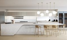 Minimal yet Elegant Kitchen Design Ideas - The Architects Diary Minimal Kitchen Design Inspiration is a part of our furniture design inspiration series. Minimal Kitchen design inspirational series is a weekly showcase Minimal Kitchen Design, Interior Design Kitchen, Luxury Kitchen Design, Living Room Lighting Design, Mim Design, Elegant Kitchens, Luxury Kitchens, Cuisines Design, Interior Inspiration