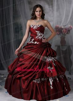 red ball gown prom dresses - Google Search